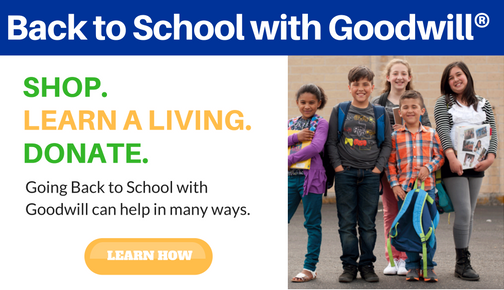 Back to School with Goodwill information